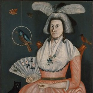 Rufus Hathaway, Molly Wales Fobes, 1790 A whimsical fantasy portrait