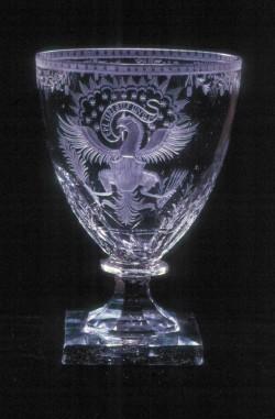 Clear blown glass rummer