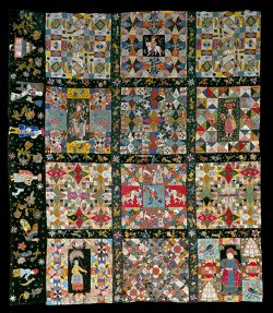 Pieced quilt top fragment, England, 1700–1730