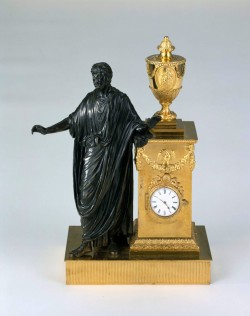 Table clock with figure of Titus, Matthew Boulton and John Fothergill