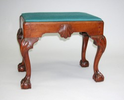 Stool, American, 1765-1950. Mahogany. Colonial Williamsburg Foundation, 1952.