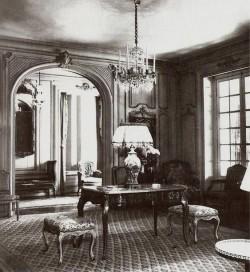 Interior of Elsie de Wolfe's Villa Trianon, her home in Versailles, France