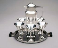 Gorham silver cocktail shaker set, 1925-1929, designed by Erik Magnussen