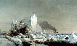 """Sealers Crushed in the Ice,"" 1866 by William Bradford"