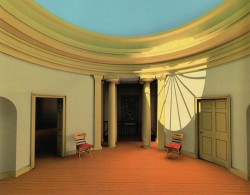 Digital reconstruction of the second story rotunda of the Pope Villa, Lexington, KY
