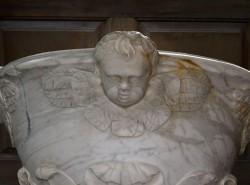 Marble baptismal font, Christ Church