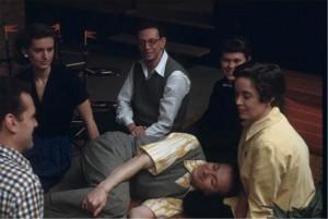 Charles Eames, unknown woman, Edgar Kaufmann jr, Ray Eames, Susan Girard and Alexander Girard