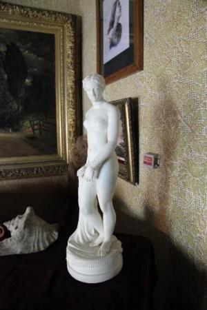 Frederick Douglass' reduced size Parian porcelain replica of the Greek Slave, Frederick Douglas National Historic Site
