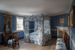 Blue bedchamber after 2017 restoration